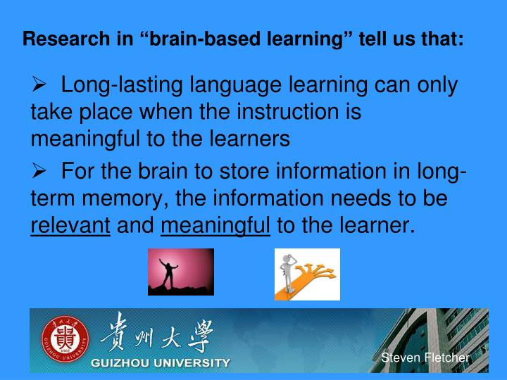 brain based learning research