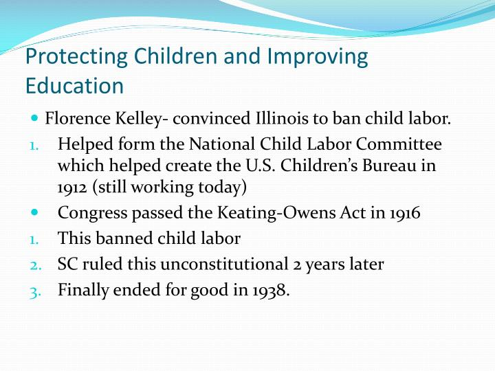 Protecting Children and Improving Education