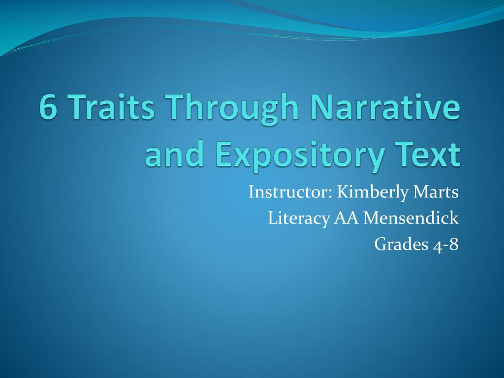 narrative and expository text