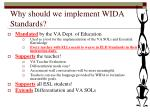 why should we implement wida standards