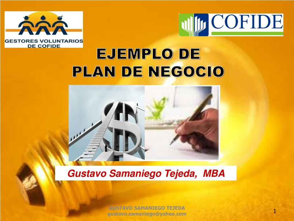 Ppt Ejemplo De Plan De Negocio Powerpoint Presentation Free Download Id 2006026