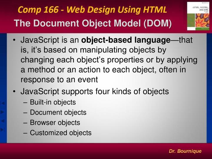 the document object model dom n.