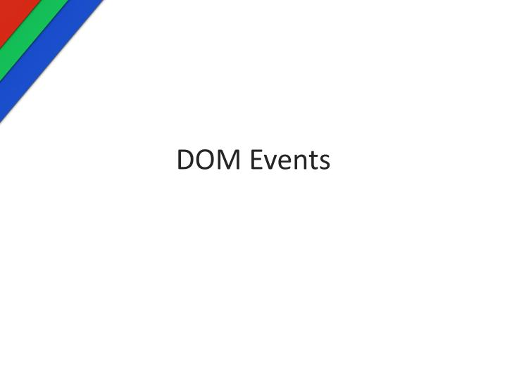 dom events n.