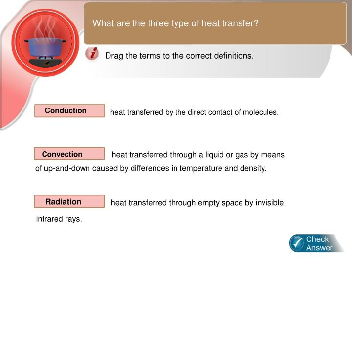 What are the three type of heat transfer?