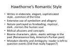 hawthorne s romantic style