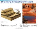 strip mining destroys the environment
