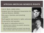 african american women s rights