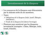investissement de la diaspora