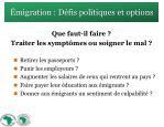 migration d fis politiques et options