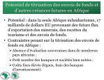 potentiel de titrisation des envois de fonds et d autres cr ances futures en afrique