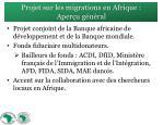 projet sur les migrations en afrique aper u g n ral