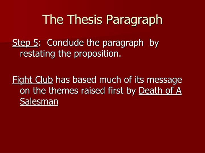 death of a salesman conclusion paragraph