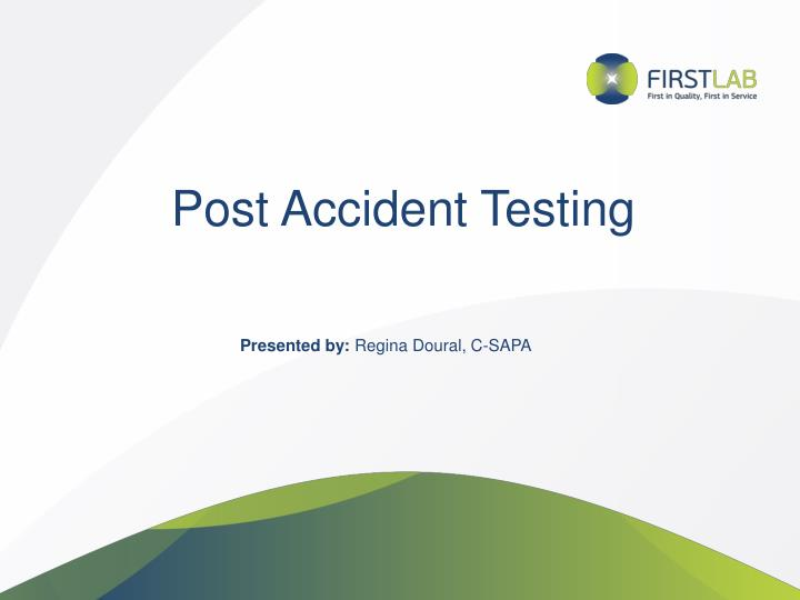 post accident testing