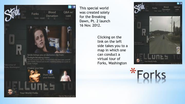 This special world was created solely for the Breaking Dawn, Pt. 2 launch