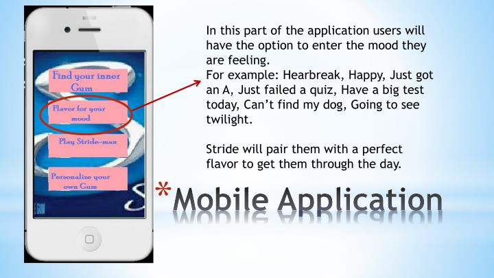 In this part of the application users will have the option to enter the mood they are feeling.