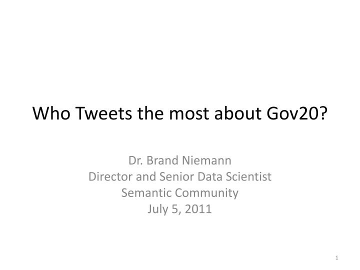 who tweets the most about gov20 n.