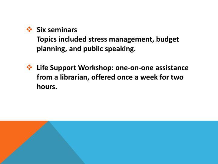 Six seminars
