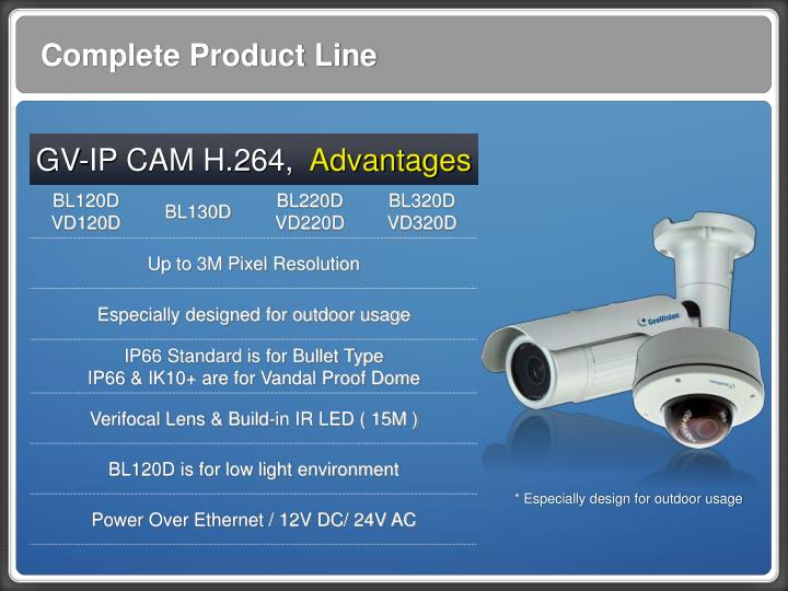 Complete Product Line