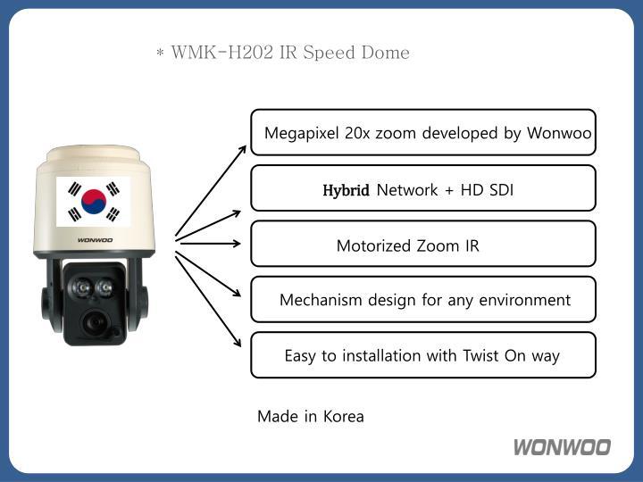 Wmk h202 ir speed dome
