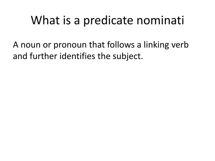 What is a predicate