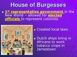 house of burgesses