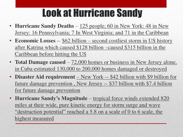 Look at hurricane sandy