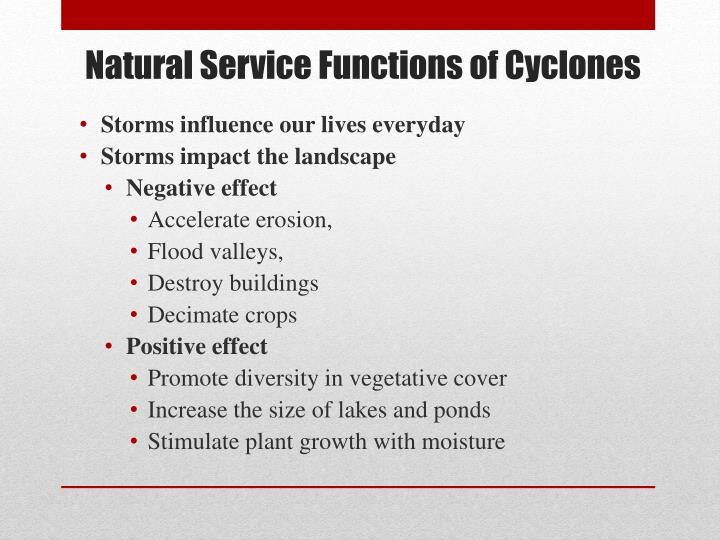 Natural Service Functions of Cyclones