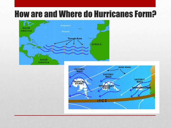 How are and Where do Hurricanes Form?