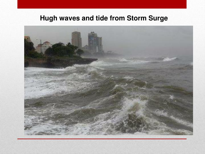 Hugh waves and tide from Storm Surge