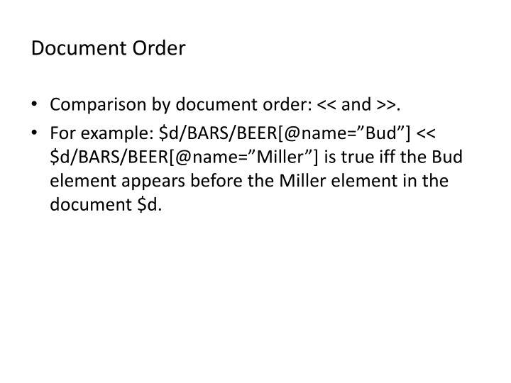 Document Order