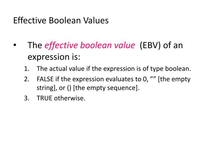 Effective Boolean Values