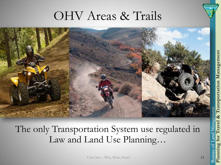 OHV Areas & Trails