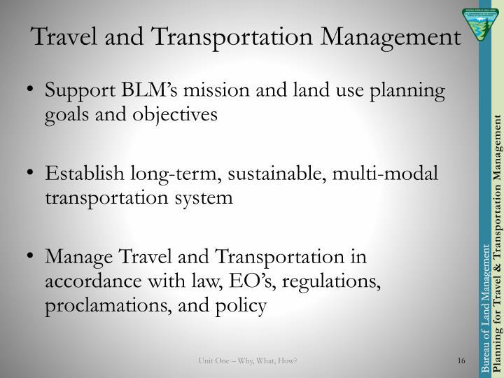 Travel and Transportation Management