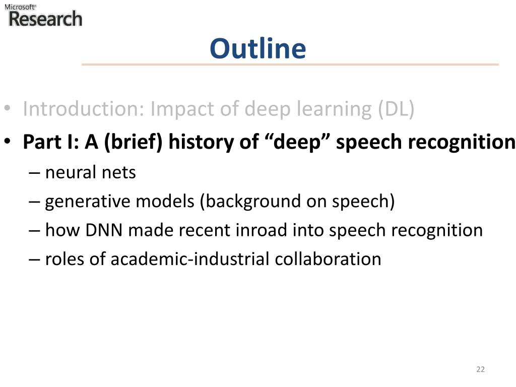 PPT - Deep Learning from Speech Analysis/Recognition to Language