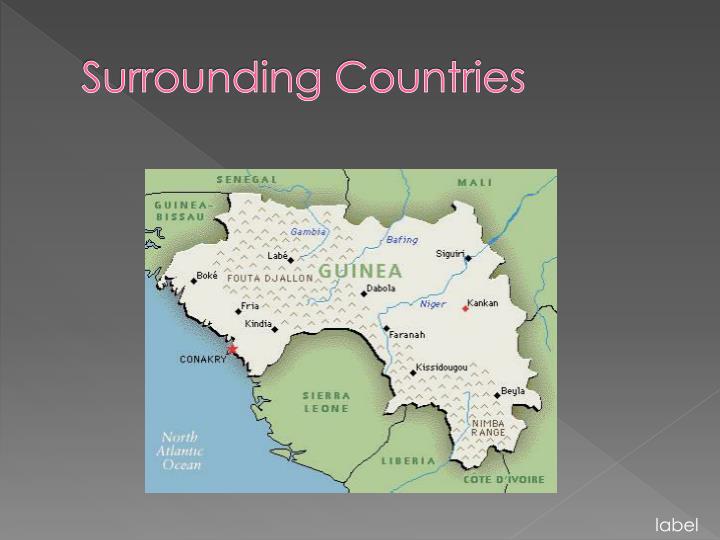 Surrounding countries