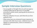 sample interview questions