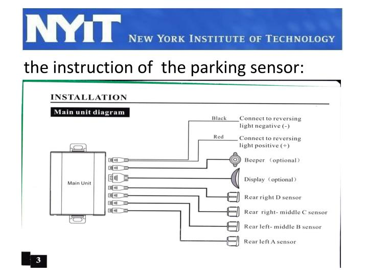 the instruction of  the parking sensor: