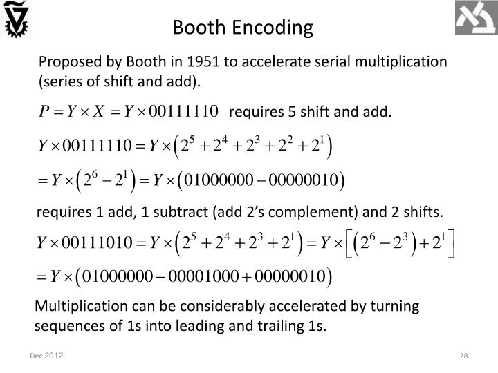 Booth Encoding