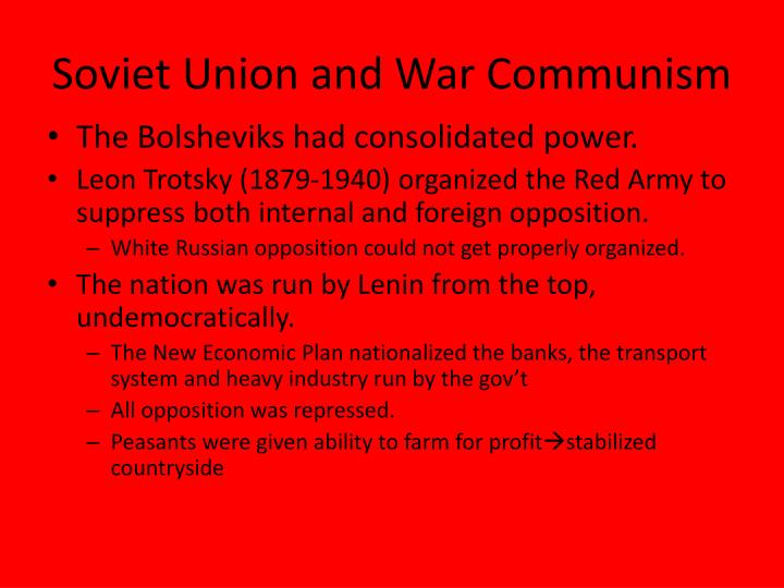 Soviet union and war communism