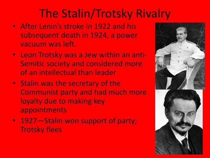The stalin trotsky rivalry