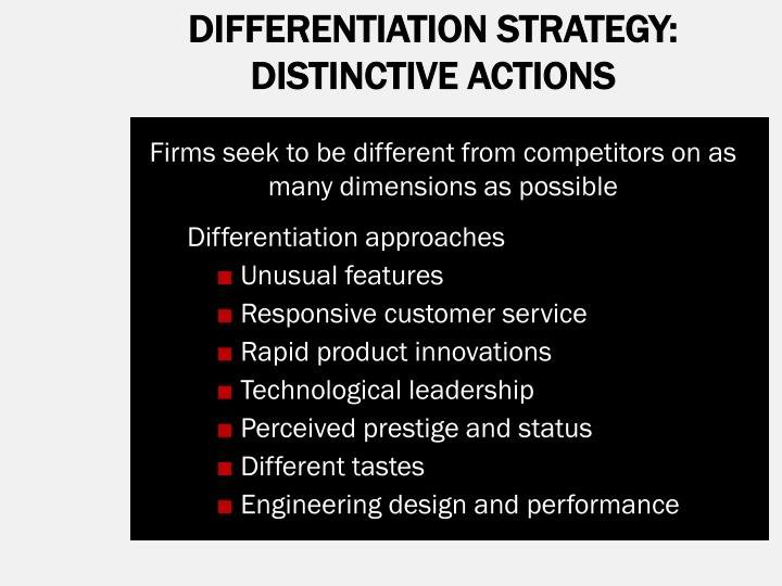 DIFFERENTIATION STRATEGY: