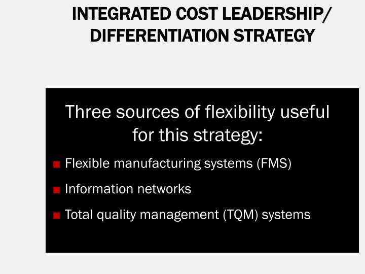 INTEGRATED COST LEADERSHIP/