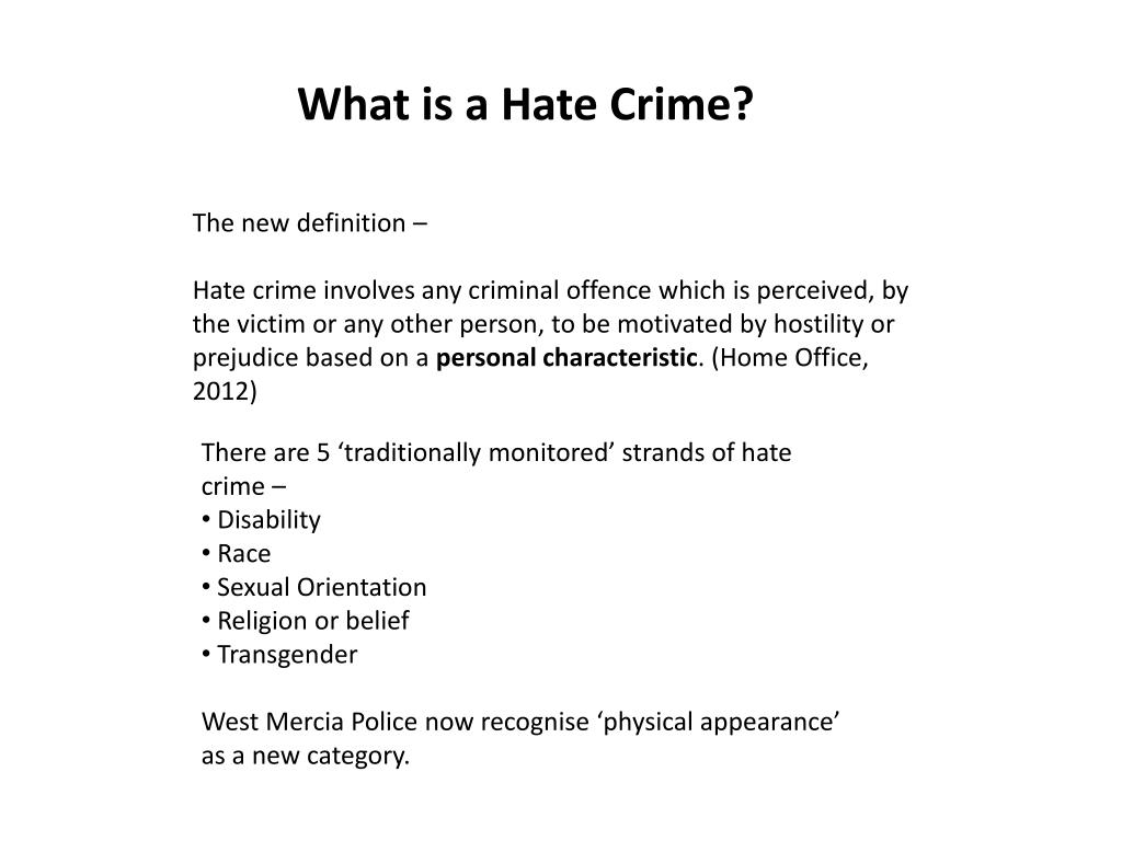 ppt - what is a hate crime? powerpoint presentation - id:2007870