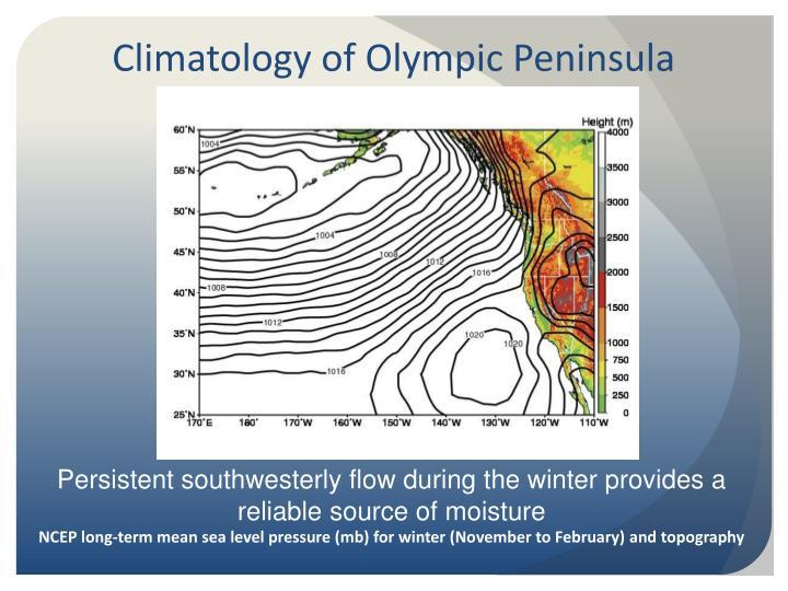 Climatology of Olympic Peninsula