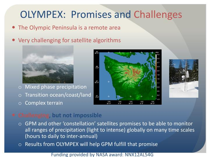 OLYMPEX:  Promises and