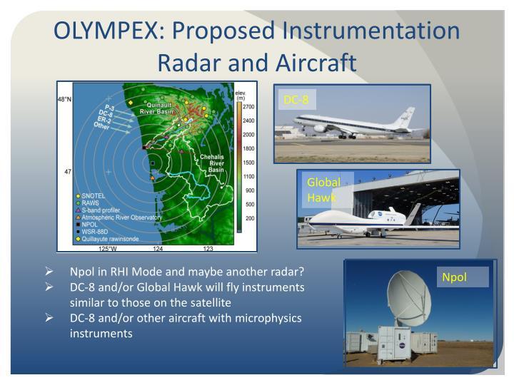 OLYMPEX: Proposed Instrumentation