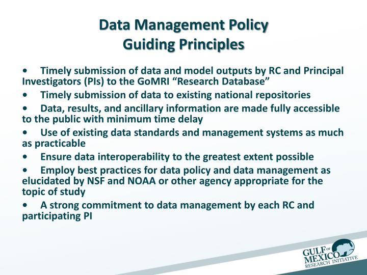 Data Management Policy