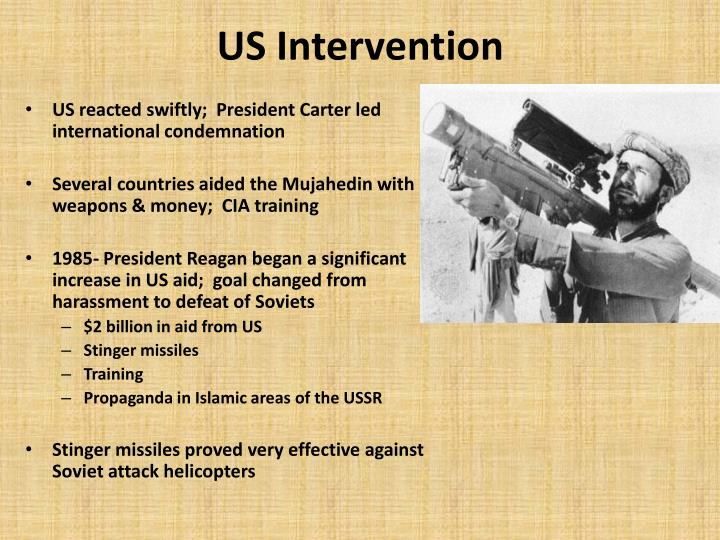 """american intervention in soviet afghan war Soviet tanks roll south into afghanistan during the 1979 invasion in private, us strategists were delighted with the events in afghanistan not only did the soviet intervention provide propaganda opportunities, the soviets were confronted with what one american politician called """"their own vietnam""""."""