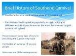 brief history of southend carnival