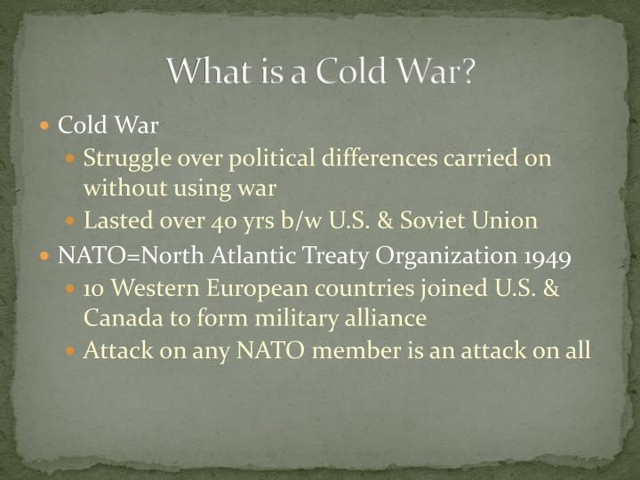 What is a Cold War?